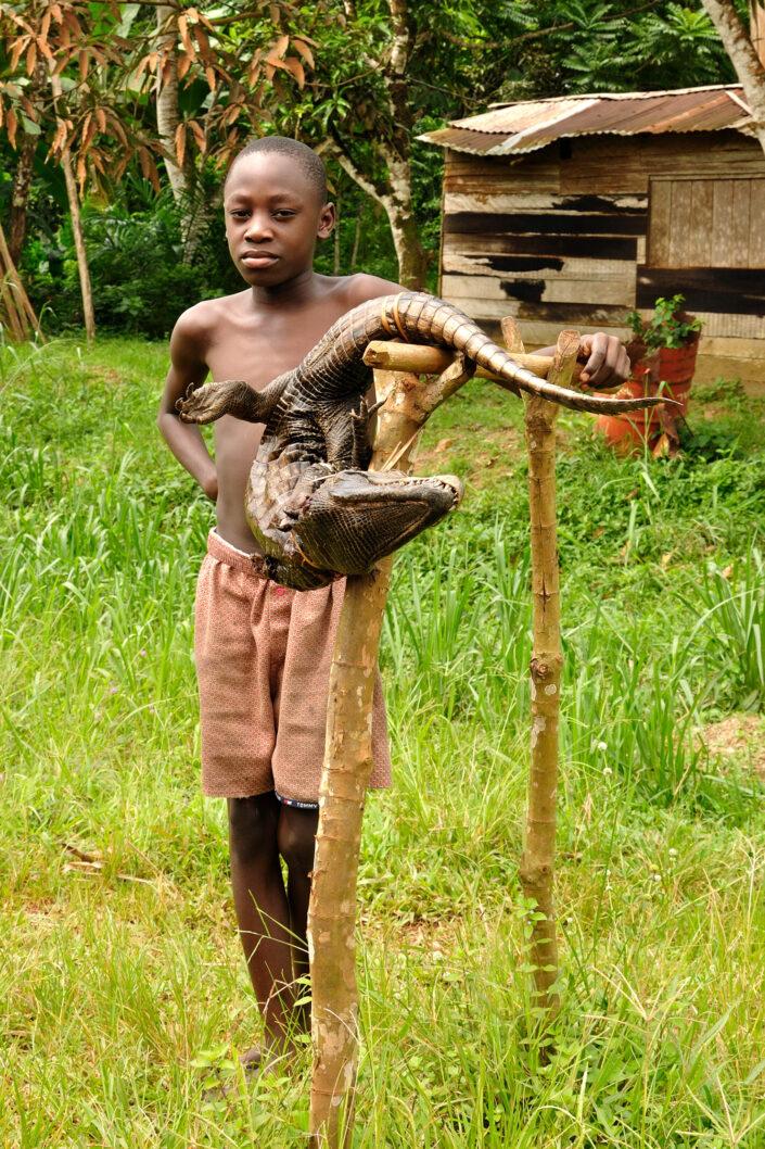 Première chasse, Gabon