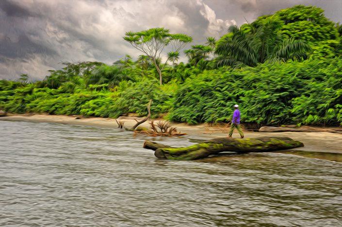 L'Homme sur la plage - Gabon