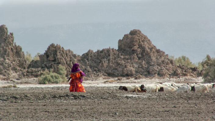 Bergère, Lac Abbe, Djibouti